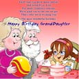Grand Daughter Birthday Wishes Card