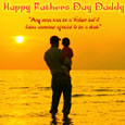 Father's Day Blessed Thoughts Card