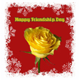 Happy Friendship Rose Card