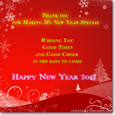 New Year Thank You Greetings