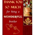 Borther Rakhi Card