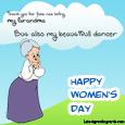 Happy Women's Day Grandma cards