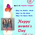 Happy Women's Day Sister cards
