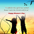 Women's Day Family Card