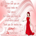 Thank You Womens day Card